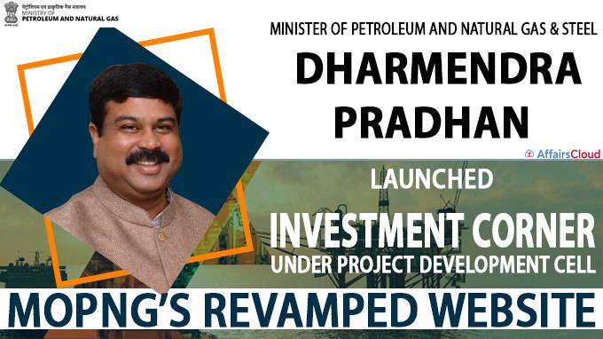 Dharmendra Pradhan launches investment corner