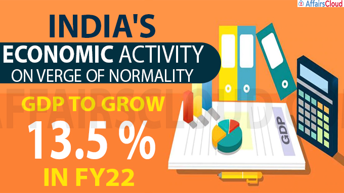 Economic activity on verge of normality, GDP to grow