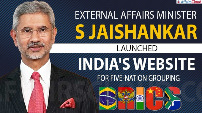 External Affairs minister Jaishankar unveils India's BRICS website