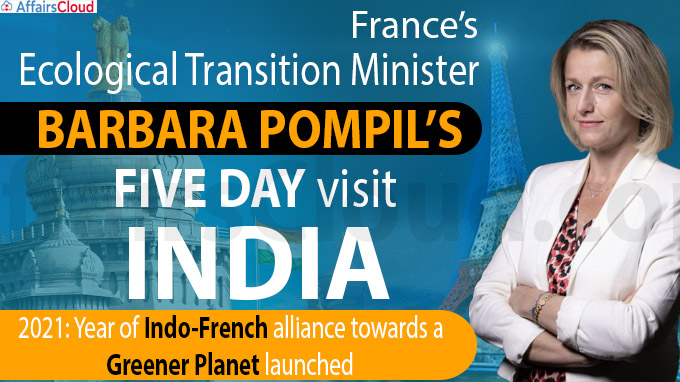 France's ecological transition minister five day visit india