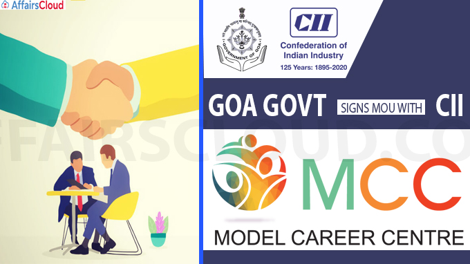 Goa Govt signs MoU with CII on Model Career Centre