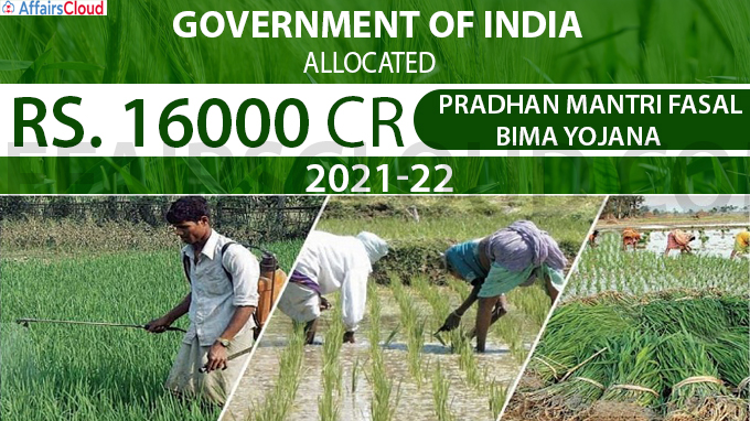Government of India allocates Rs 16000 crore PMFBY
