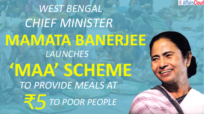 Mamata Banerjee launches 'Maa' scheme to provide meals at ₹5 to poor people