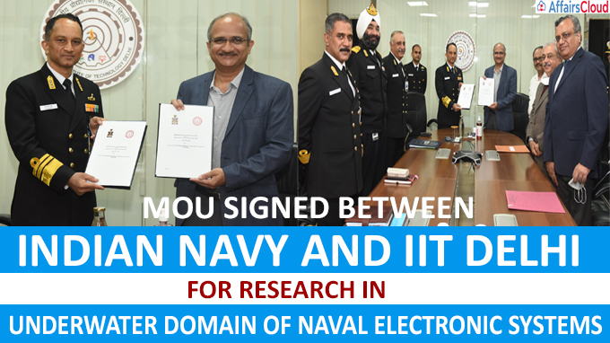 MoU Signed Between Indian Navy And IIT Delhi For Research