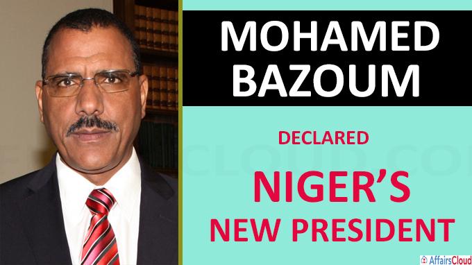 Mohamed Bazoum declared