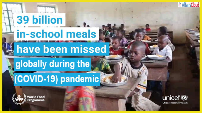 More than 39 billion school meals missed during COVID-19 pandemic