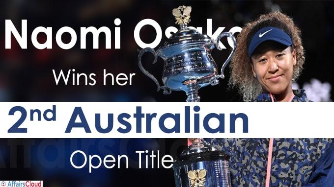 Naomi Osaka lifts Women's title defeating Jennifer Brady
