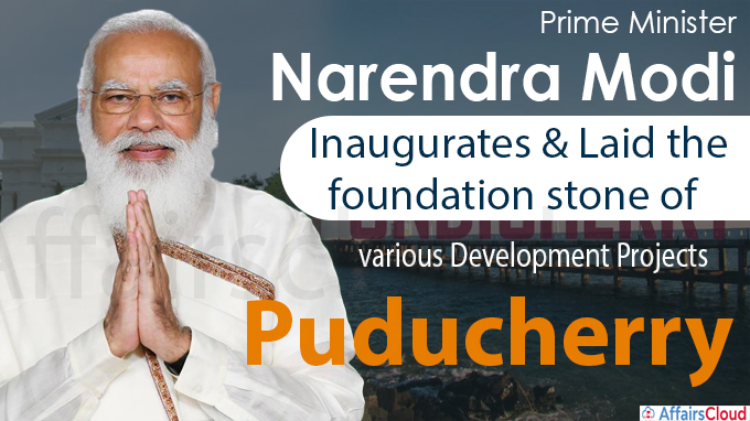 PM inaugurates and lays foundation stone of various development projects