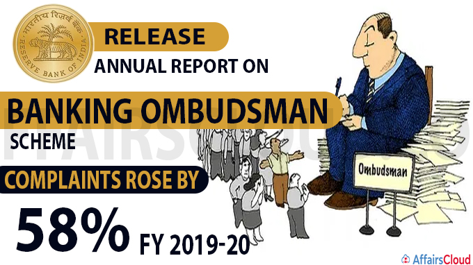 RBI's annual report on Banking Ombudsman Scheme