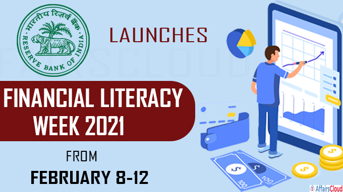 RBI launches Financial Literacy Week 2021 from February 8-12