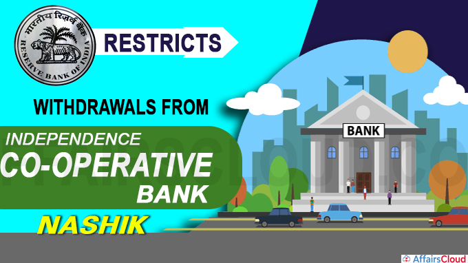 RBI restricts withdrawals from Independence Co-operative Bank