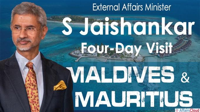 S Jaishankarto embark on a four-day visit to the Maldives