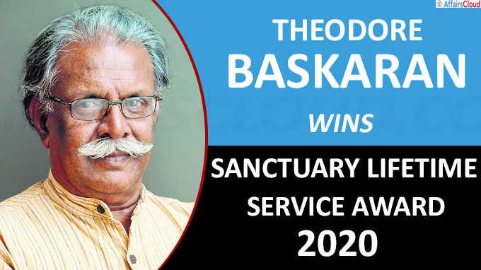 Theodore Baskaran wins Sanctuary Lifetime Service Award 2020