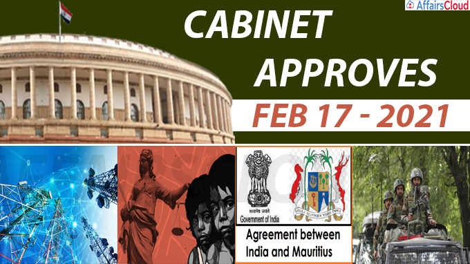 cabinet approval on feb 17, 2021