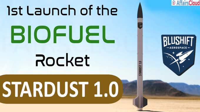 the first rocket to run on biofuel launched