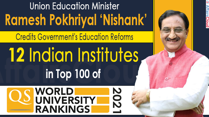 12 Indian institutes in top 100 of QS World University Ranking