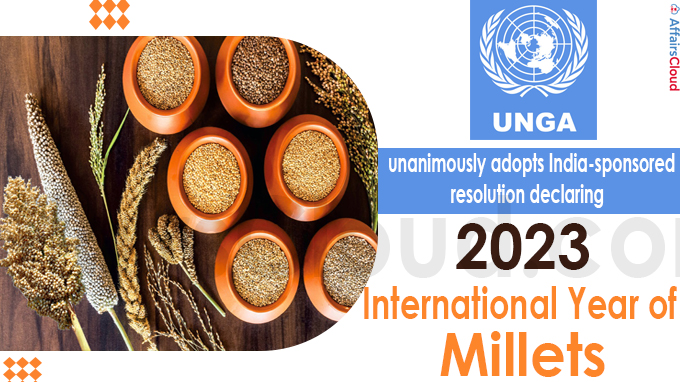 2023 as International Year of Millets