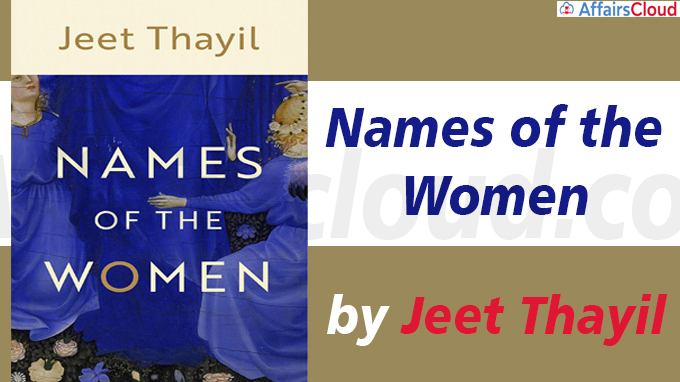 A book Titled 'Names of the Women' by Jeet Thayil