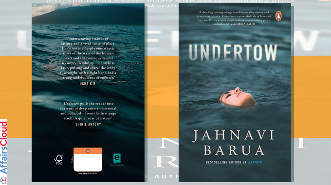 A book titled 'Undertow' by Jahnavi Barua
