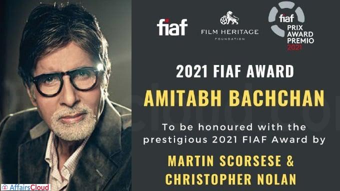 Amitabh Bachchan honoured with FIAF award