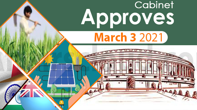 Cabinet approval on March 3 2021