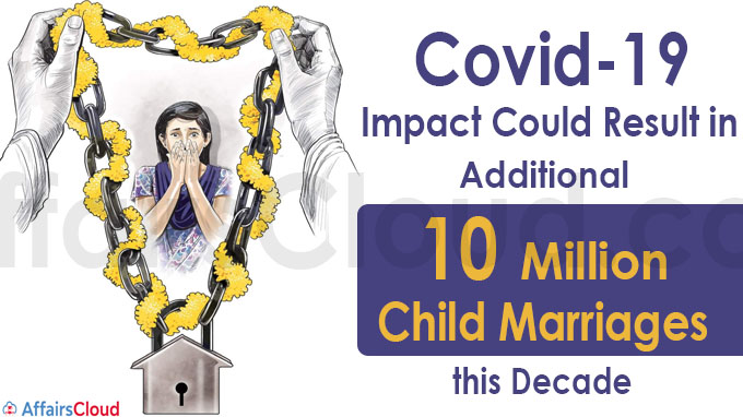 Covid-19 impact additional 10 million child marriages