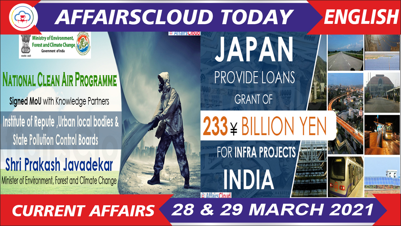Current Affairs 28 & 29 March 2021 English
