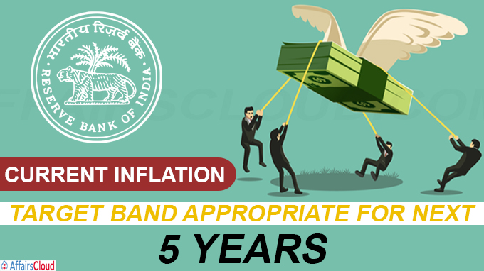 Current inflation target band appropriate for next 5 years