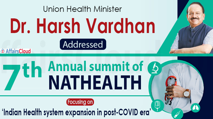 Dr. Harsh Vardhan addresses 7th annual summit of NATHEALTH