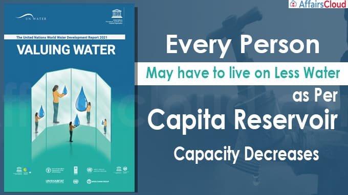 Every person may have to live on less water as per capita reservoir capacity decreases