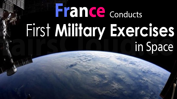 France conducts first military exercises in space