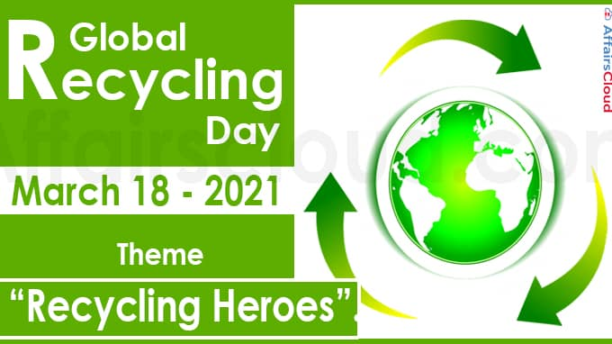 Global Recycling Day 2021 March 18 new