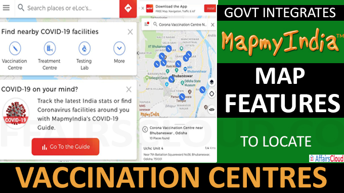 Govt integrates MapMyIndia's map features to locate vaccination centres