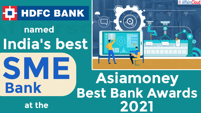 HDFC Bank named India's best SME bank