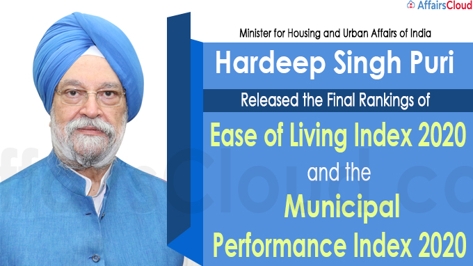 Hardeep Singh Puri released EoLI 2020 MPI 2020