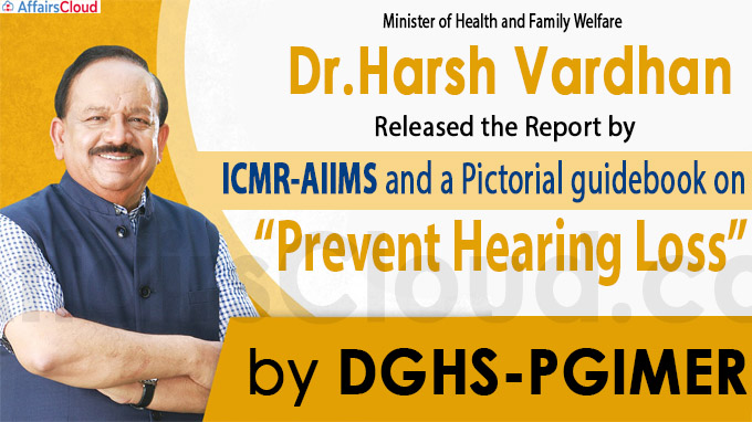 Harsh Vardhan also released the report by ICMR-AIIMS