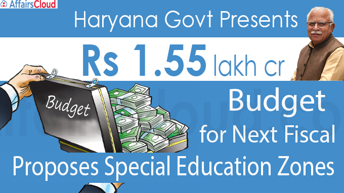Haryana govt presents Rs 1.55 lakh cr budget