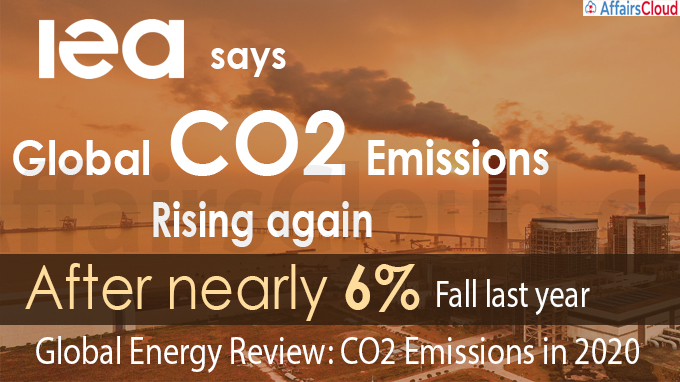 IEA says global CO2 emissions rising again after nearly 6%
