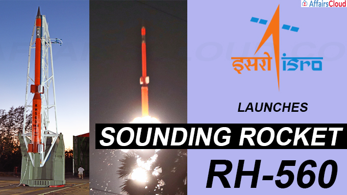 ISRO launches sounding rocket RH-560