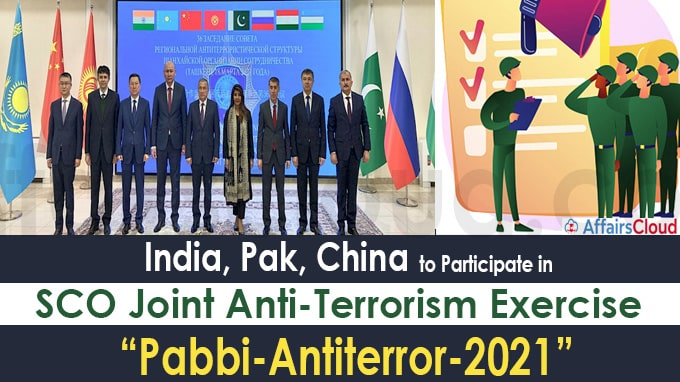 India, Pak, China to participate in SCO joint anti-terrorism exercise this year