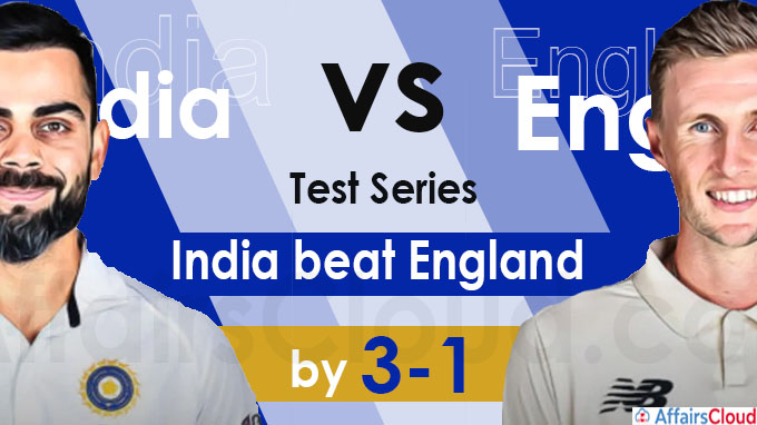 India Vs England test series held from Feb 5 to March 8