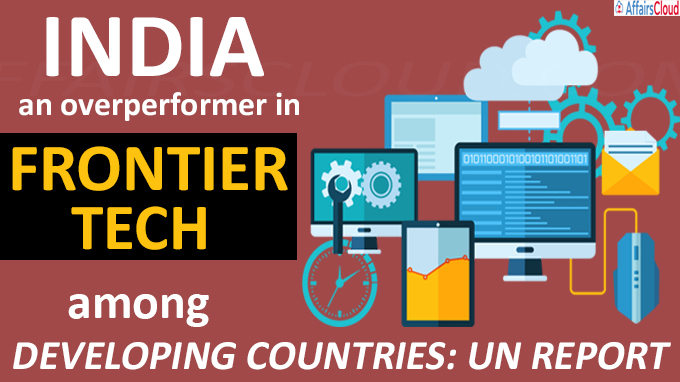 India an overperformer in frontier tech among developing countries