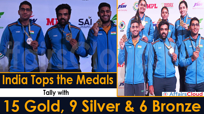 India tops the medals