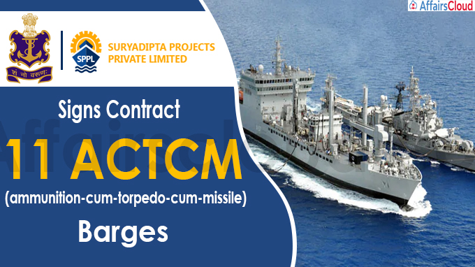 Indian Navy signs contract with Suryadipta Projects for 11 ACTCM