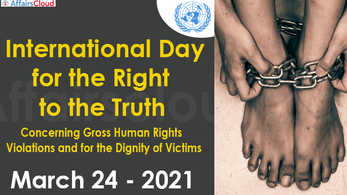 International Day for the Right to the Truth 2021-March 24