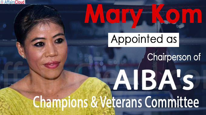 Mary Kom appointed as Chairperson of AIBA's champions