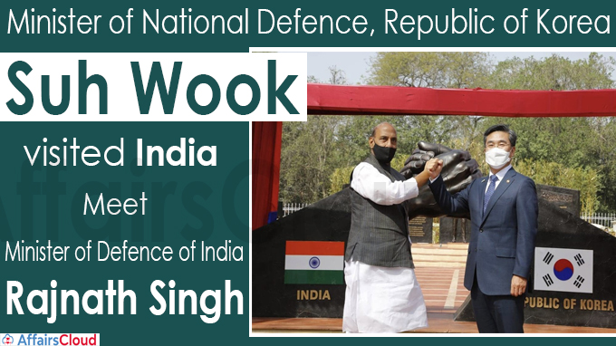 Minister of National Defence Suh Wook, visited India