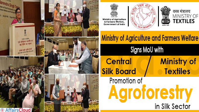 Ministry of Agriculture and Farmers Welfare signs MoU with Central Silk Board
