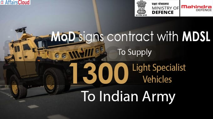 MoD signs contract with MDSL