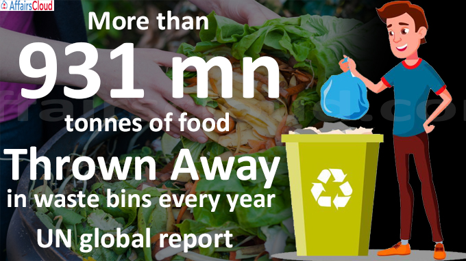 More than 931 mn tonnes of food thrown away in waste